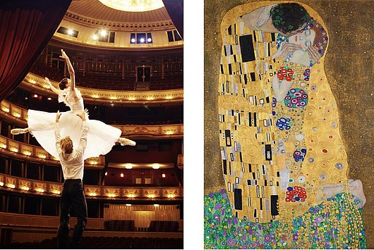 "ballett dancers & ""The Kiss"" by Gustav Klimt"